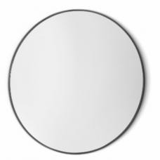 Vanita & Casa Gamma Round veidrodis,  d=600 mm, juodo plieno rėmelis