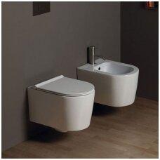 Alice Ceramica Form Square Rimless pakabinamas WC (dangčių pasirinkimas), įvairių spalvų