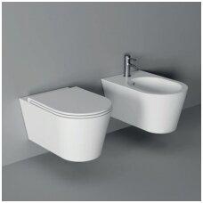 Alice Ceramica Hide Round pakabinamas WC (dangčių pasirinkimas), įvairių spalvų