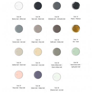 Alice Ceramica Form pastatomas praustuvas H15, 60 x 35 cm, įvairių spalvų 6