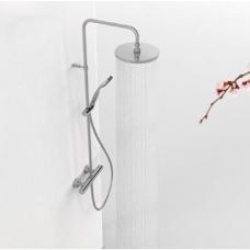 Base Tres plus dušo sistema, termostatinis maišytuvas, 225mm stac galva, žarnelė, rankinis dušas