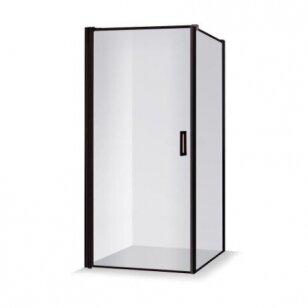 Baltijos Brasta Kristina Nero Frame dušo kabina, juodi profiliai, dydžių ir stiklo spalvų pasirinkimas