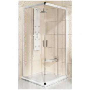 Ravak Blix BLRV2 dušo kabina 80x80, baltas profilis, skaidrus stiklas