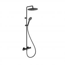 Cristina dušo sistema 250mm , matinė juoda