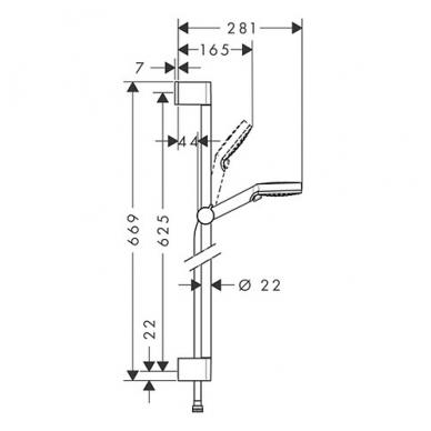 Hansgrohe Crometta Vario Green dušo komplektas, taupantis vandenį - 6 l/min, balta/chromas 2