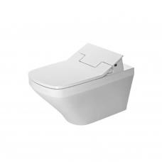 Duravit DuraStyle Rimless SensoWash pakabinamas WC, 370x620 mm, Durafix, su Slim lėtai nusileidžiančiu dangčiu, baltas