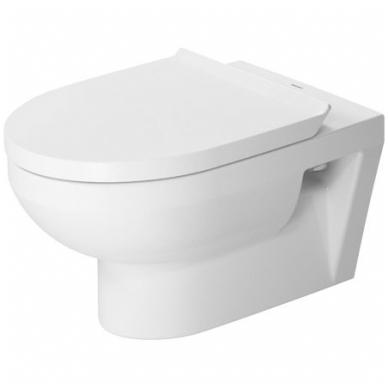 Duravit DuraStyle Basic pakabinamas WC su Rimless, lėtai nusileidžiantis dangtis, baltas