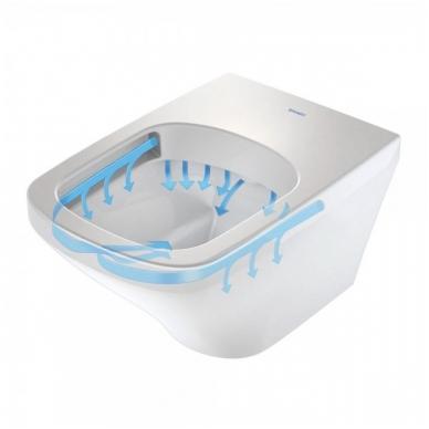 Duravit DuraStyle pakabinamas WC su Rimless, lėtai nusileidžiantis dangtis, baltas 2