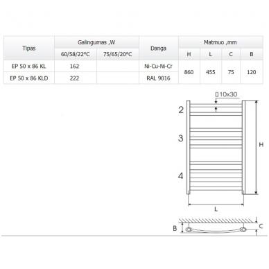 Elonika EP 50 x 86 KL plieninis rankšluosčių džiovintuvas 3