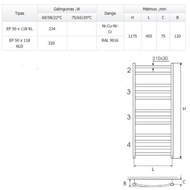 Elonika EP 50x 118 KL plieninis rankšluosčių džiovintuvas 3