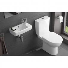 Geberit Selnova Square Rimfree WC unitazas 530x355 mm su bakeliu ir su lėtai nusileidžiančiu dangčiu