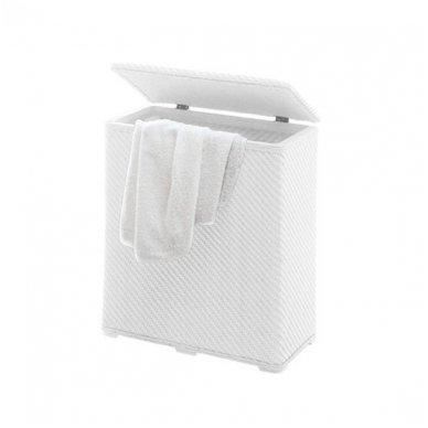 Gedy Ambrogio skalbinių krepšys, baltos spalvos