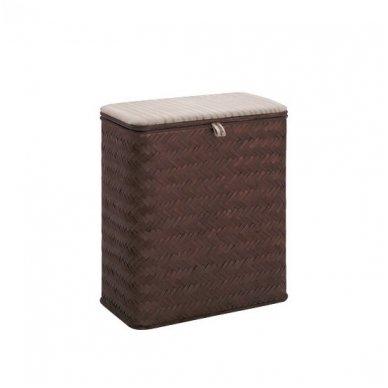 Gedy Vito skalbinių krepšys, tamsiai rudos spalvos