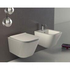 Globo Stone Compact pakabinamas WC, baltas