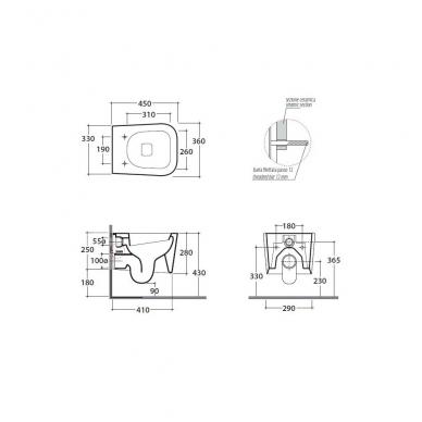 Globo Stone Compact pakabinamas WC, baltas 2
