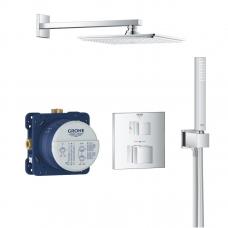 Grohe Grohtherm Cube/Rainshower Allure 230 potinkinis termostatinis komplektas, chromas