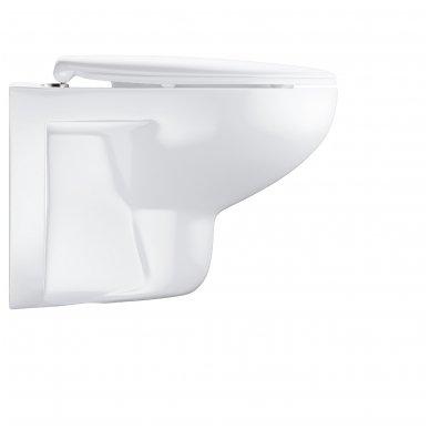 Grohe Bau Rimless pakabinamas WC su lėtai nusileidžiančiu dangčiu, baltas 2