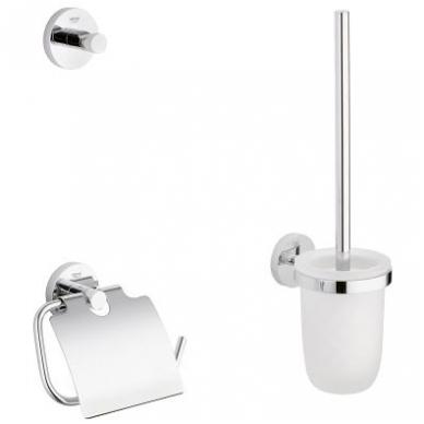 Grohe Essentials aksesuarų rinkinys (kabliukas, tualetinio popieriaus laikiklis, tualeto šepetys), chromas