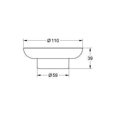 Grohe Essentials stiklinė muilinė, skaidri 2
