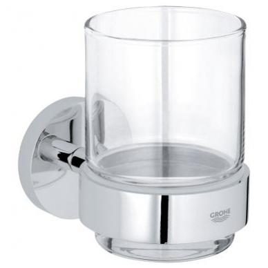 Grohe Essentials stiklinė su laikikliu, chromas