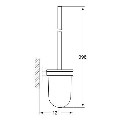 Grohe Essentials tualeto šepetys su laikikliu, chromas 2