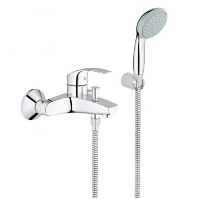 Grohe Eurosmart New vonios maišytuvas su dušo galvute, chromas