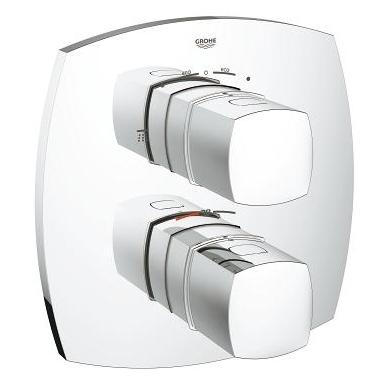 Grohe Grandera potinkinis termostatinis vonios/dušo maišytuvas, chromo arba chromo su auksu spalvos