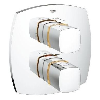 Grohe Grandera potinkinis termostatinis vonios/dušo maišytuvas, chromo arba chromo su auksu spalvos 6