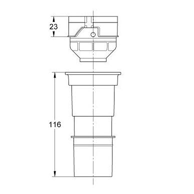 Grohe potinkinio rėmo adapteris, 4.5l 2