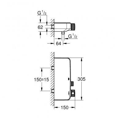 Grohe SmartControl termostatinis dušo maišytuvas, chromas 2