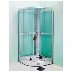 Gustavsberg Nautic dušo kabina-boksas, stiklas skaidrus, profilis blizgus, 90 x 90 cm