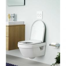 Gustavsberg Hygienic Flush pakabinamas WC su lėtai nusileidžiančiu dangčiu