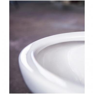 """Gustavsberg Estetic Hygienic Flush pakabinamas WC su lėtai nusileidžiančiu dangčiu ir """"Ceramicplus"""" danga, baltas 3"""