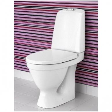 Gustavsberg Nautic Hygienic Flush 1510 pastatomas WC su lėtai nusileidžiančiu dangčiu