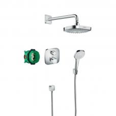 Hansgrohe Design ShowerSet Croma Select E potinkinės termostatinės sistemos komplektas, chromas
