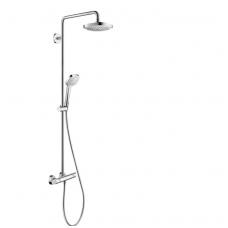 Hansgrohe Select E 180 2jet termostatnė dušo sistema, balta/chromas