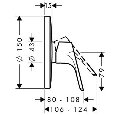 Hansgrohe Focus potinkinis dušo maišytuvas chromas 2