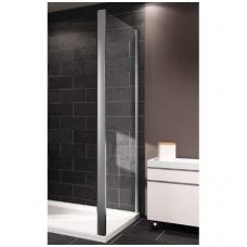 Huppe X1 stabili dušo sienelė, 75 - 100 cm, stiklas skaidrus, profilis blizgus