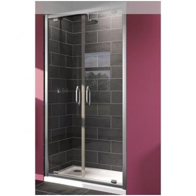 Huppe X1 dvigubos varstomos dušo durys, stiklas skaidrus, profilis blizgus