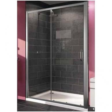 Huppe X1 stumdomos dušo durys, dviejų dalių, stiklas skaidrus, profilis blizgus