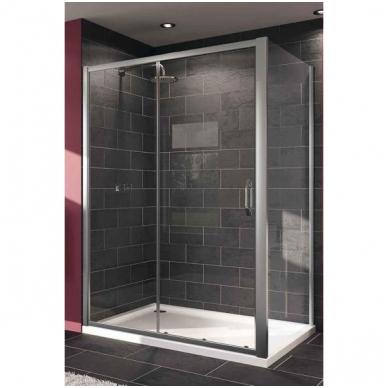 Huppe X1 stumdomos dušo durys, dviejų dalių, stiklas skaidrus, profilis blizgus 2