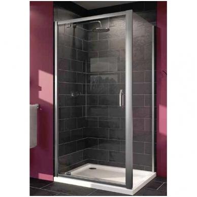 Huppe X1 varstomos dušo durys, stiklas skaidrus, profilis blizgus 2