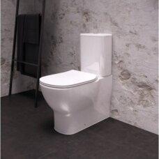 Ideal Standart Tesi Aquablade pastatomas WC su lėtai nusileidžiančiu dangčiu, T008201 + T356801 + T352701