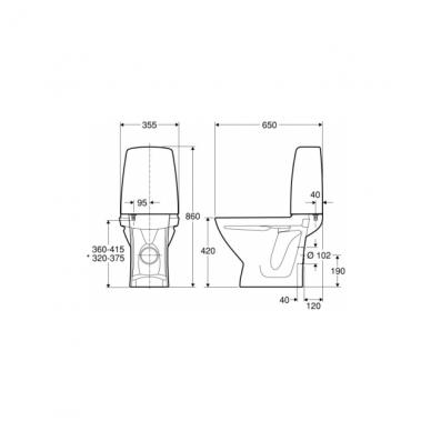 Ifö Sign pastatomas WC, universalus nuotakas, baltas 3