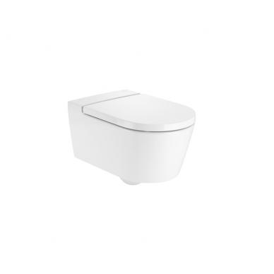 Roca Inspira Round Rimless pakabinamas WC, baltas