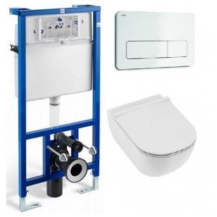 Jika WC System potinkinio rėmo ir Jika Mio Rimless pakabinamo WC komplektas