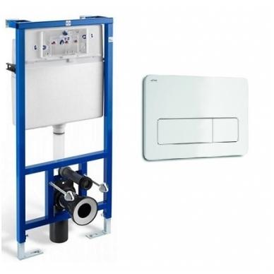 Jika WC System potinkinio rėmo komplektas su baltu mygtuku