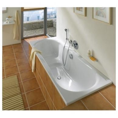 "Kaldewei Vaio Set plieninė vonia, 170 x 75 cm, su ""perlo efektu"", garso izoliacinėmis gumomis, balta 2"