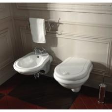Kerasan Retro pakabinamas WC, baltas su lėtai nusileidžiančiu dangčiu