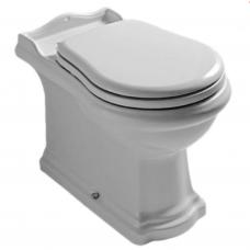 Kerasan Retro pastatomas WC su lėtai nusileidžiančiu dangčiu, blizgus juodas